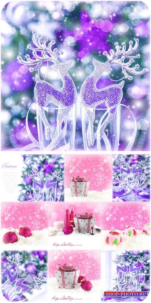 Красивые новогодние фоны - сток фото