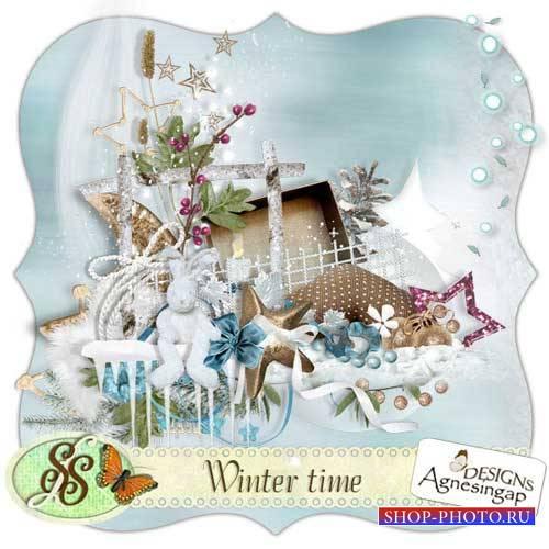 Зимний скрап-комплект - Зима пришла