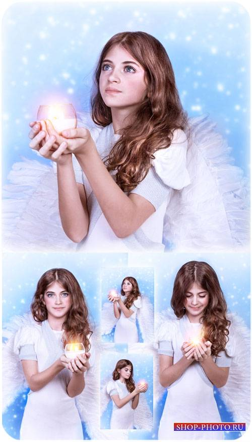 Ангел, маленькая девочка - сток фото