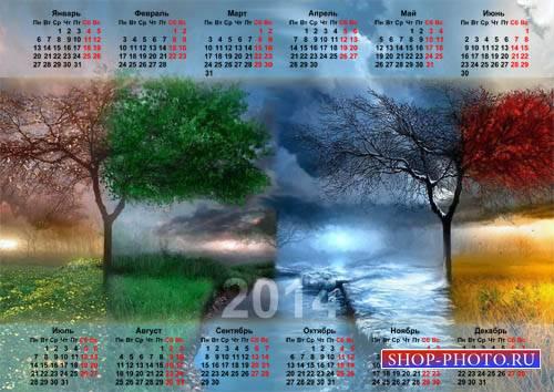 Календарь - 4 сезона природы