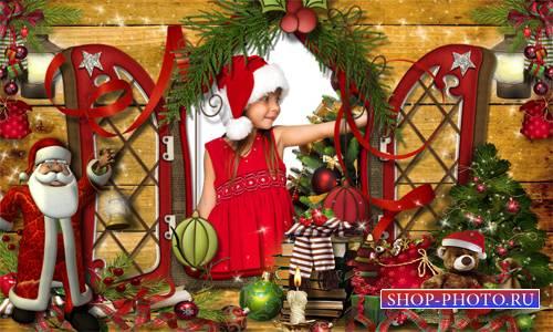Рамка детская - Тихой поступью идёт Новый Год