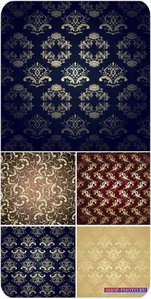 Векторные фоны с орнаментом, винтажные украшения