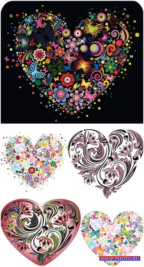 Сердца, креативный вектор