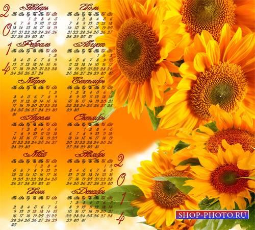 Календарь на 2014 год – Подсолнухи