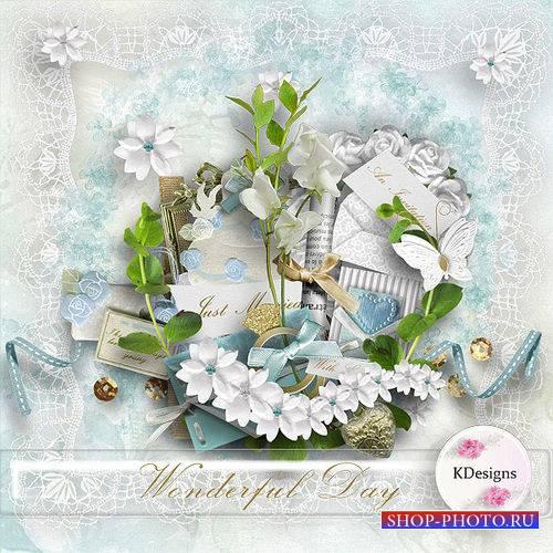 Прекрасный свадебный скрап-комплект - Чудесный денёк