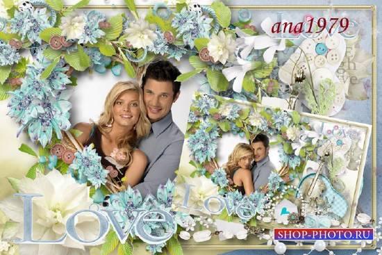 Рамка для фотошопа - Love