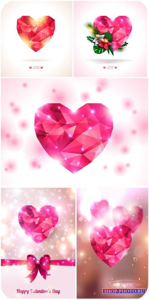Сияющие сердца, Валентинов день в векторе