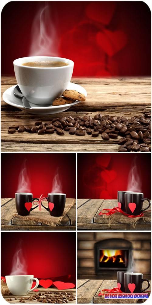 Чашечка кофе для любимых - сток фото