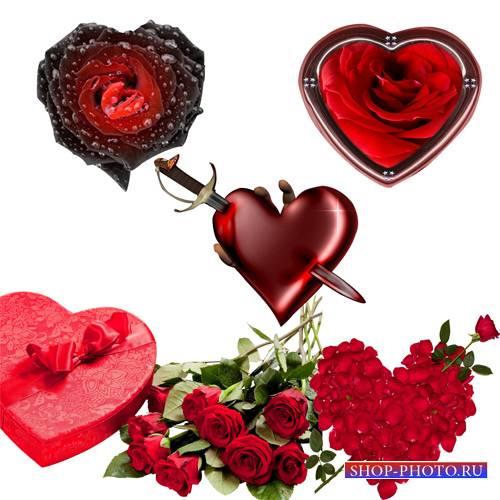 Клипарт - Композиции с сердцами