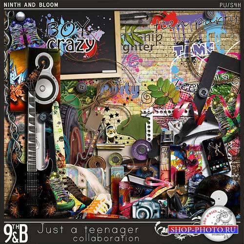 Молодёжный скрап-комплект - Просто подросток