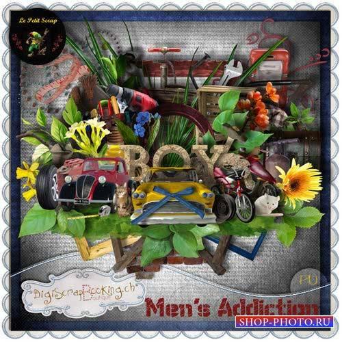 Стильный мужской скрап-комплект - Мужские пристрастия