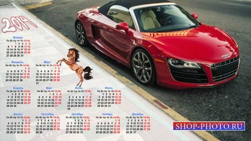 Календарь на 2014 год - Мощное ауди