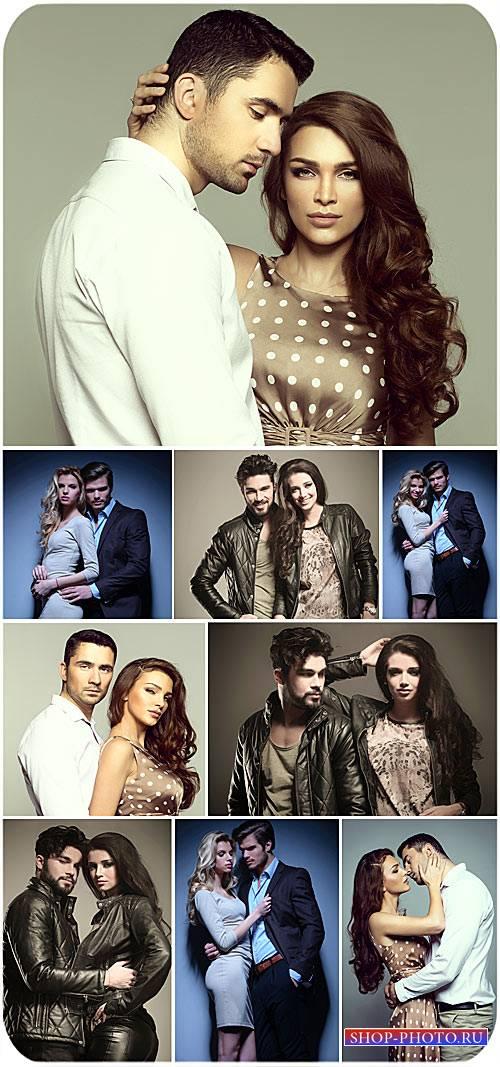 Красивые пары, мужчины и женщины - сток фото