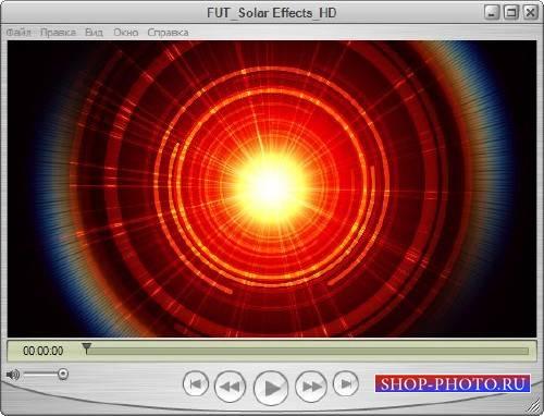 Видеофутаж - Свечение солнца