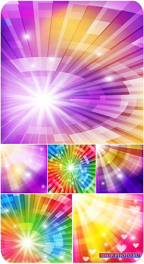 Векторные фоны, разноцветная абстракция