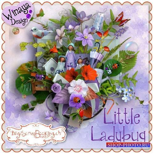 Очаровательный цветочный скрап-комплект - Маленькая божья коровка