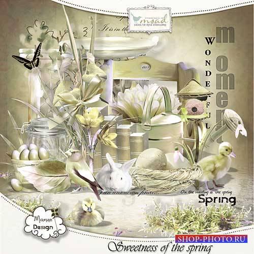 Весенний мини скрап-комплект - Сладость весны