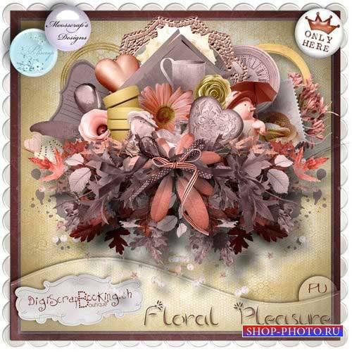 Цветочный скрап-комплект - Цветочное удовольствие