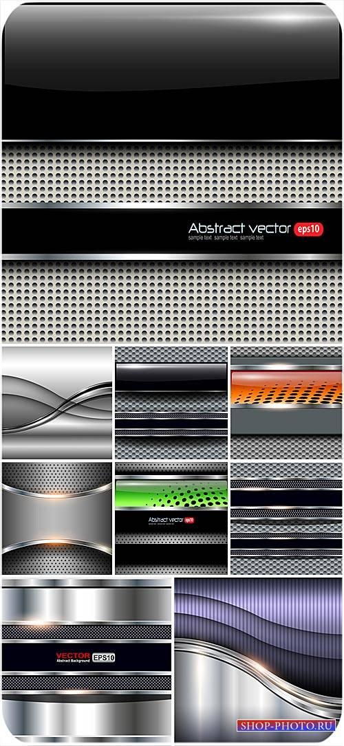 Векторные серебряные фоны с абстракцией