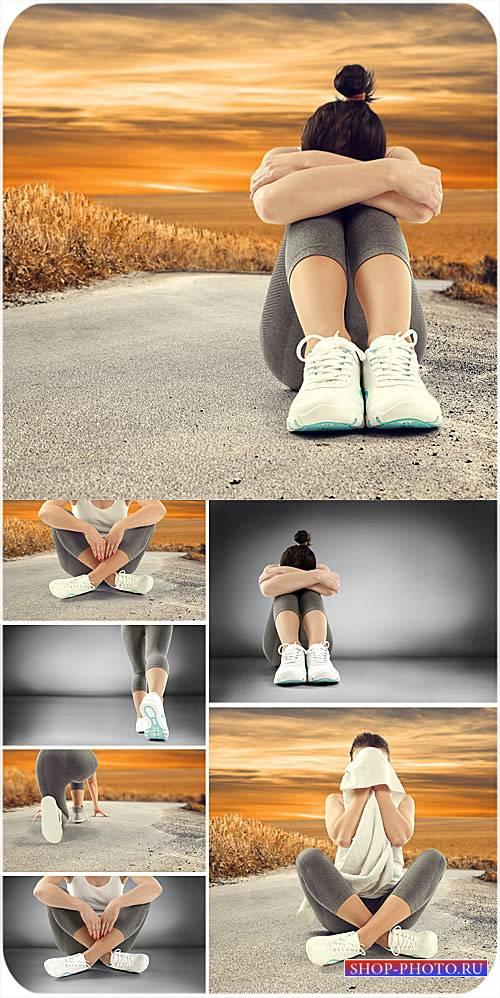 Спортивная девушка - сток фото