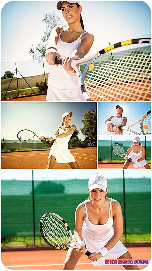 Теннис, девушка теннисистка, спорт - сток фото