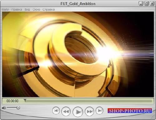 Футаж для оформления видео - Золотые кольца