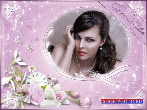 Романтическая рамка для photoshop - Милая голубка