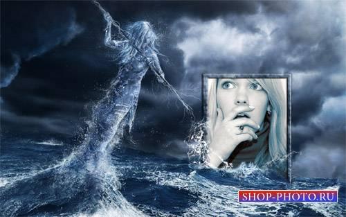 Рамка для фотошоп - Гнев моря