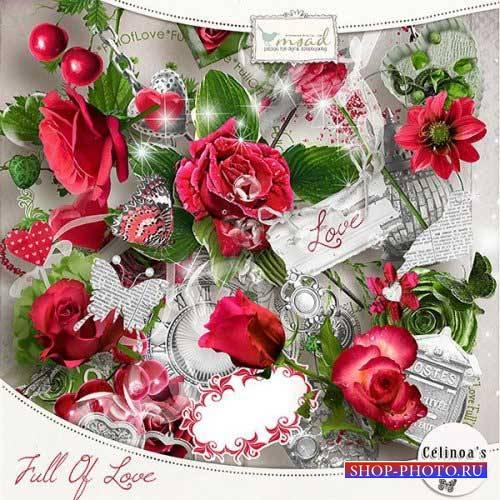 Шикарный романтический скрап-комплект - Наполненный любовью