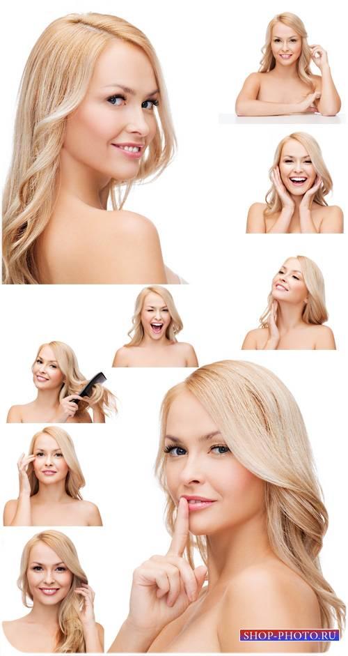 Красивая блондинка, девушка - сток фото