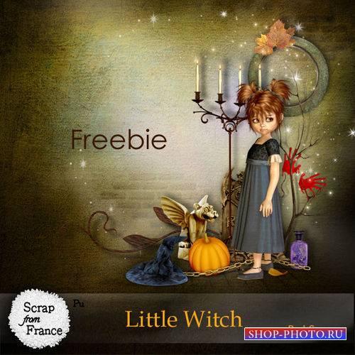 Мистический мини скрап-комплект - Маленькая ведьмочка
