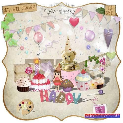 Детский праздничный скрап-комплект - Счастливый