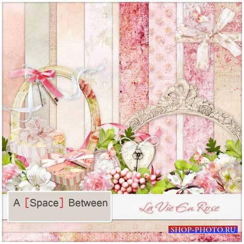 Нежный романтический скрап-комплект - В розовом