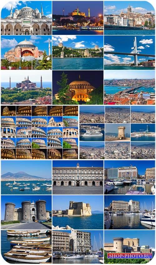 Архитектурные строения разных стран мира - сток фото