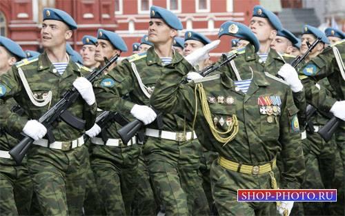 PSD шаблон для мужчин - Военный парад