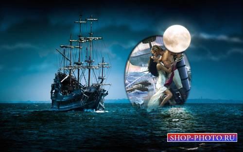 Рамка для фотографии - Таинственный ночной корабль