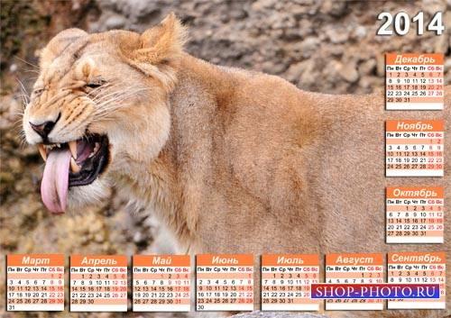 Календарь PSD - Смешная мордашка