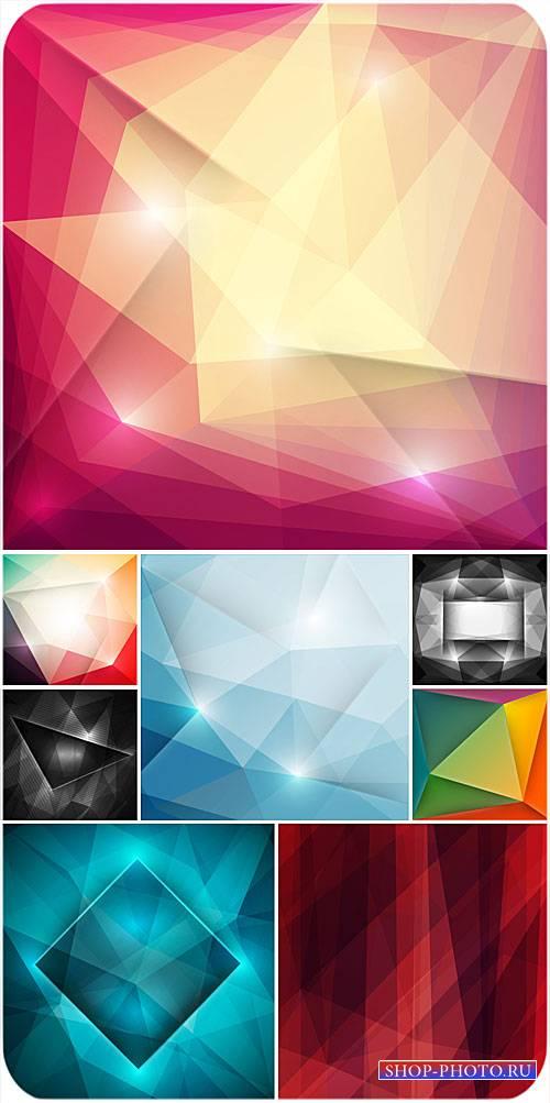 Векторные фоны с цветной абстракцией