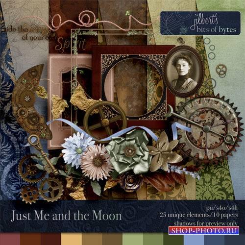 Винтажный скрап-комплект - Просто я и луна