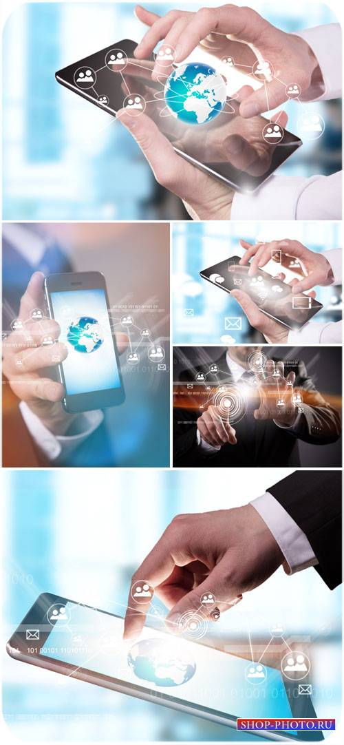 Смартфоны, современные технологии - сток фото