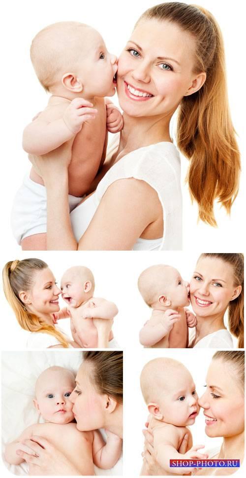Женщина с ребенком, мать и дитя - сток фото