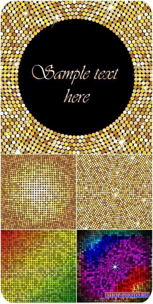 Сияющие золотые фоны в векторе