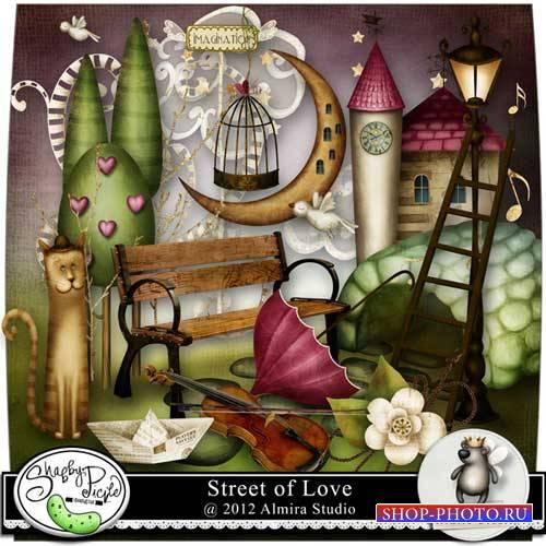 Романтический скрап-комплект - Улица любви