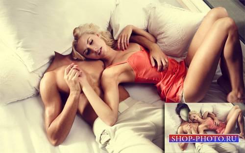 Шаблон для фотошопа - Несомненный Казанова с девушкой
