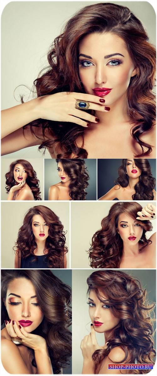 Красивая девушка, женская красота и стиль - сток фото