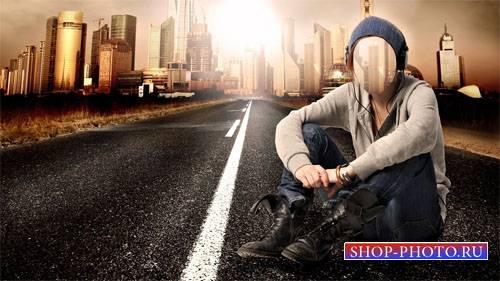 Шаблон psd женский - На дороге к мегаполису