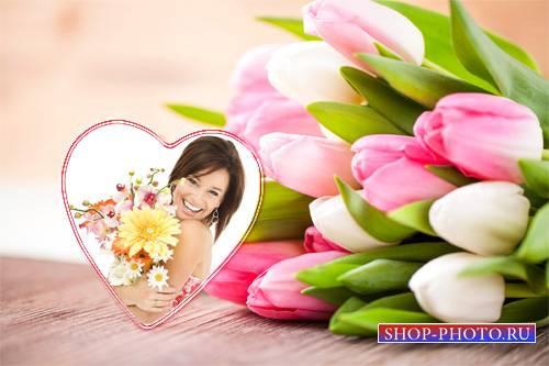 Рамка для девушек - Букет цветов