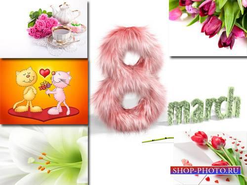 Фоны для фотографий - С праздником весны