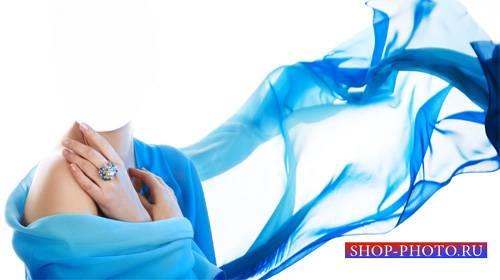 Шаблон для Photoshop - В нежно голубом платье