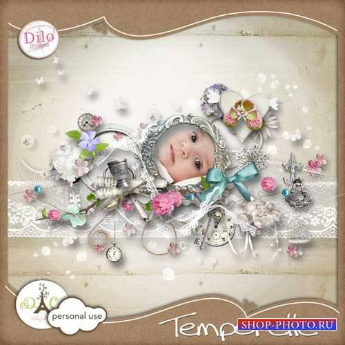 Нежный романтический скрап-комплект - Temporelle